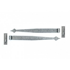 Pewter 24'' Hook & Band Hinge (pair)