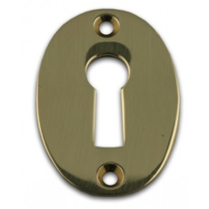 Oval Escutcheon Polished Brass