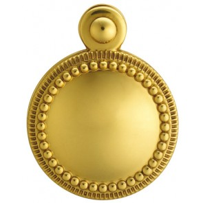 Carlisle Beaded Covered Escutcheon - Polished Brass
