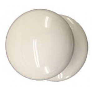 Ceramic Victorian Knob 50mm - White