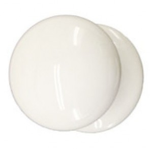 Porcelain Cupboard Knob - White