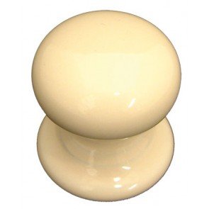 Porcelain Victorian Knob 32mm - Cream