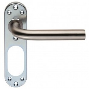 Lever Handle Backplate Only - Grade 201 SSS
