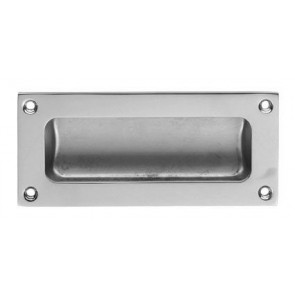 Flush Pull - Polished Chrome - Various Sizes