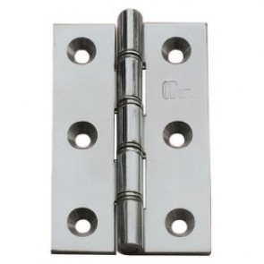 DSSW Brass Butt Hinges (pair) - Polished Chrome