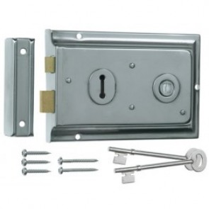 Eurospec Lipped Rim Lock - Various Finishes