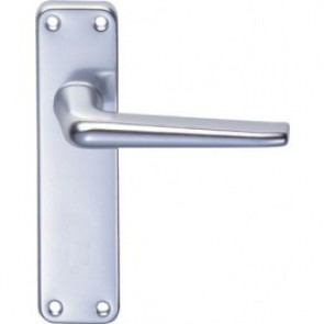 Face Fix Lever Handle - Satin Anodised Aluminium