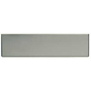 "Internal Flap 10""x3"" - Silver Anodised Aluminium"