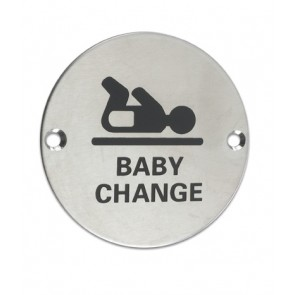 Baby Change 76mm - Satin Stainless Steel