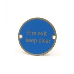 Fire Door  Keep Shut Sign - Satin Stainless Steel (Silver Letters)