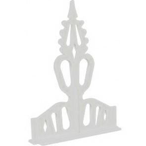 """Regency Crest 8"""" PVC White"""