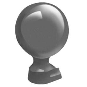 Exitex - Cresfinex Mk2/Mk4 Slide in Ball Finial 80mm  - Grey (Ral 9023)