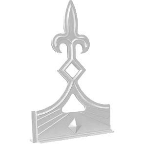 UPVC Fleur de Lys Crest White (L143mmXh224mm)