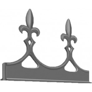 Exitex - Aluminium Fleur de Lys Crest - Various Finishes
