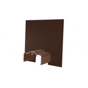 Exitex Aluminium Cresfinex M3 Wall End Cap - Brown
