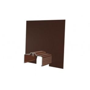 Exitex Aluminium Cresfinex M3 Wall End Cap - Brown