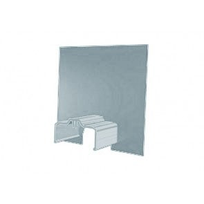 Exitex Aluminium Cresfinex M3 Wall End Cap - Mill