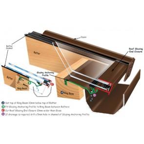 Exitex - Ankorglaze With Con/Con for 24/25mm Glazed Units 2.1m - Brown