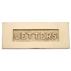 Brass Embossed Letter Plate 255 x 75mm