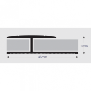 Double Edge Floor Trim 914mm SAA