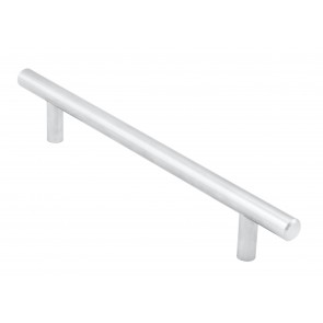 T-Bar Handle, 220mm (160mm cc) - Satin Chrome