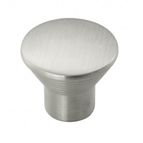 Aztec Ringed Knob - Satin Nickel