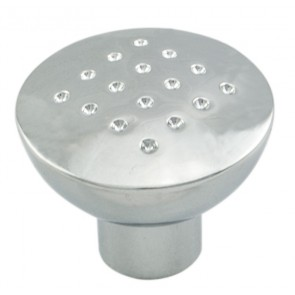 Dimple Effect Knob 33mm - Polished Chrome