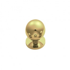 Ball Knob 25mm - Polished Brass