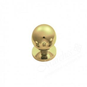 Ball Cupboard Knob - Polished Brass