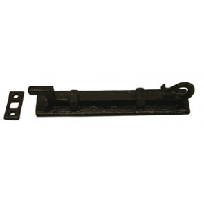 "Kirkpatrick - 6"" Cranked Narrow Monkeytail Bolt 830 Antique Black"