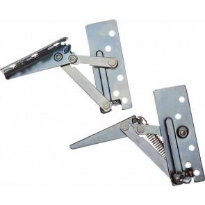 Swing up flap hinges