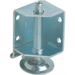 Plinth adjuster with bracket