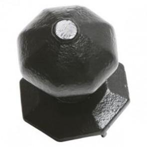 Kirkpatrick - Octagonal Centre Door Knob 3372 - Black