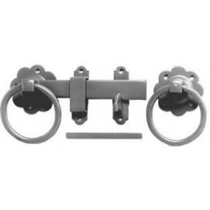"6"" Plain Ring Gate Latch - BZP"
