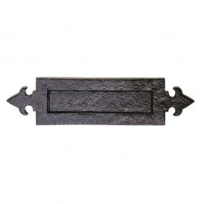 Fleur De Lys Letter Plate - Black Antique