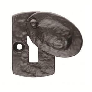 Ludlow - Plaque Covered Escutcheon - Black