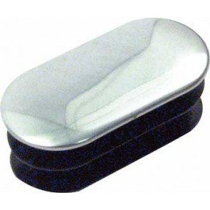 Wardrobe End Cap (Oval) - Chrome (pr)