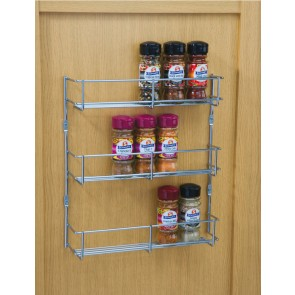 Three Tier Spice Rack 400mm cc x 55mm (D) x 316mm (H)