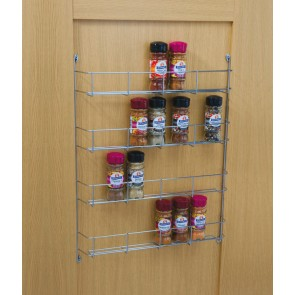 Four Tier Spice Rack 395mm cc x 55mm (D) x 500mm (H)