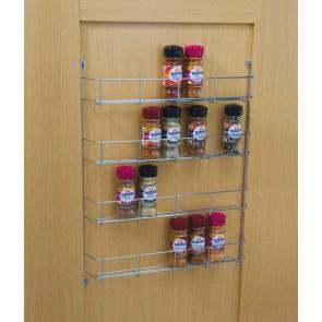 Four Tier Spice Rack 395mm cc x 55mm (D) x 500mm (H)
