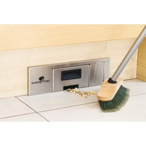 Sweepovac Kitchen Vacuum For Plinths - Stainless Steel