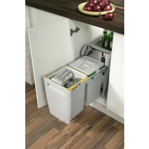 City Pull-Out Waste Bin (2x 12L)