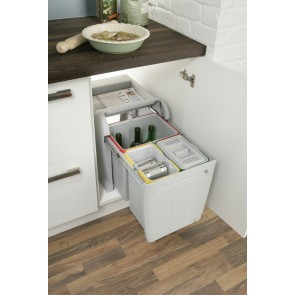 City Pull-Out Waste Bin (2x 8L, 1x 18L)