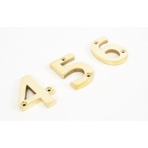 Numerals 0 To 9 - Brass