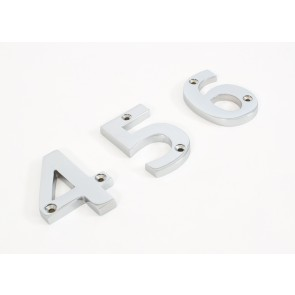 Numerals 0 to 9 - Satin Chrome