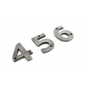 Numerals 0 to 9 - Antique Pewter