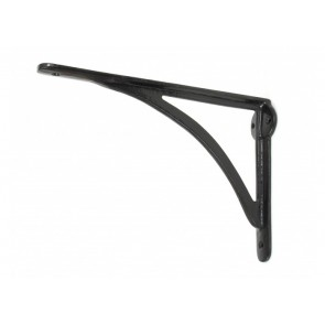 "10"" x 7"" Curved Shelf Bracket - Black"