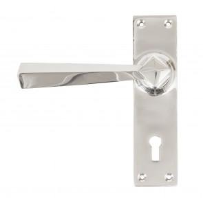 Straight Door Handle Set - Polished Chrome