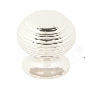 Beehive Cabinet Knobs - Polished Nickel