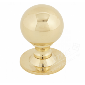 Ball Cabinet Knobs - Polished Brass